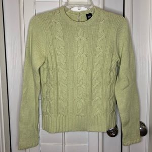 EUC GAP Light Green Cable Knit Sweater Small